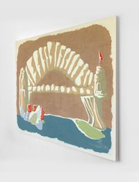 Textile design - Souvenir by Michelle Hanlin contemporary artwork works on paper