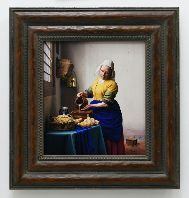 Vermeer Study: What to Pour into My Town by Yasumasa Morimura contemporary artwork