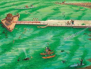 Battling the Seaweed Sea 戰苔海 by Liu Dahong contemporary artwork