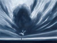 Wolkenlandschaft Oktober by Titus Schade contemporary artwork painting, works on paper, sculpture