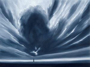 Wolkenlandschaft Oktober by Titus Schade contemporary artwork