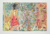 Mazes and colours and dismay by Lorna Robertson contemporary artwork painting, works on paper, drawing