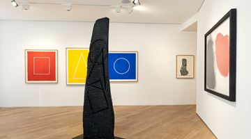 Contemporary art exhibition, David Nash, Red, Black & Blue at Galerie Lelong & Co. Paris, 38 Avenue Matignon, Paris