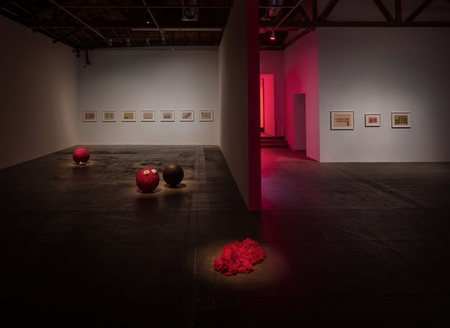 Exhibition view: Lygia Pape,Tupinambá, Hauser & Wirth, Los Angeles (24 April–1 August 2021). © Projeto Lygia Pape. Courtesy Projeto Lygia Pape and Hauser & Wirth. Photo: Fredrik Nilsen.
