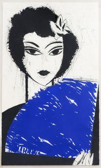 Mujer con Abanico I by Manolo Valdés contemporary artwork print
