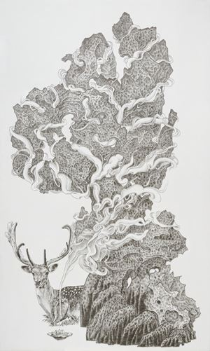 Stone Fairy, Deer at Rest by Chen Chun-Hao contemporary artwork