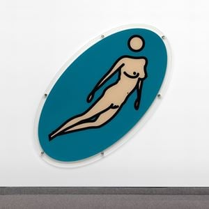 Christine swimming 06 by Julian Opie contemporary artwork