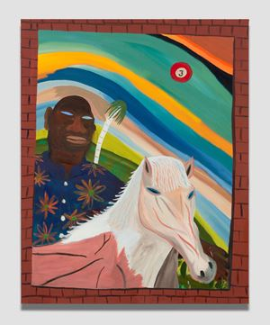 Caballo blanco by Marcus Jahmal contemporary artwork