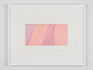 Moiré and different angles #16 by Channa Horwitz contemporary artwork