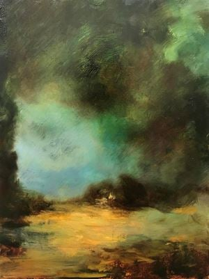 Untitled (Dark Landscape) by Christopher Orr contemporary artwork painting