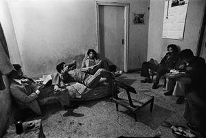 Nizamuddin Gang Hanging Out at Ruhan's Pad, New Delhi by Pablo Bartholomew contemporary artwork