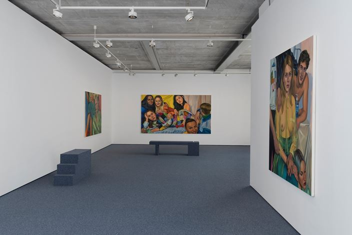 Exhibition view: Chloe Wise,Not That We Don't,Almine Rech, London (10 April–18 May 2019). Courtesy the Artist and Almine Rech. Photo: Melissa Castro-Duarte.