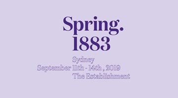 Contemporary art exhibition, Spring 1883 Sydney 2019 at This Is No Fantasy dianne tanzer + nicola stein, Melbourne