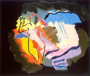 L'homme dans l'espace by Karel Appel contemporary artwork
