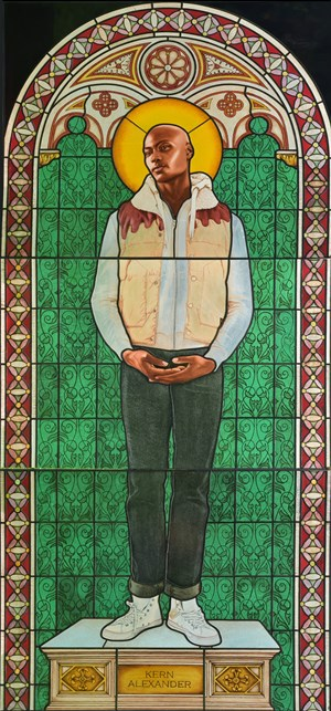Saint Amelie by Kehinde Wiley contemporary artwork