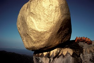 The Golden Rock, Kyaiktiyo, Myanmar (Burma) by Hiroji Kubota contemporary artwork