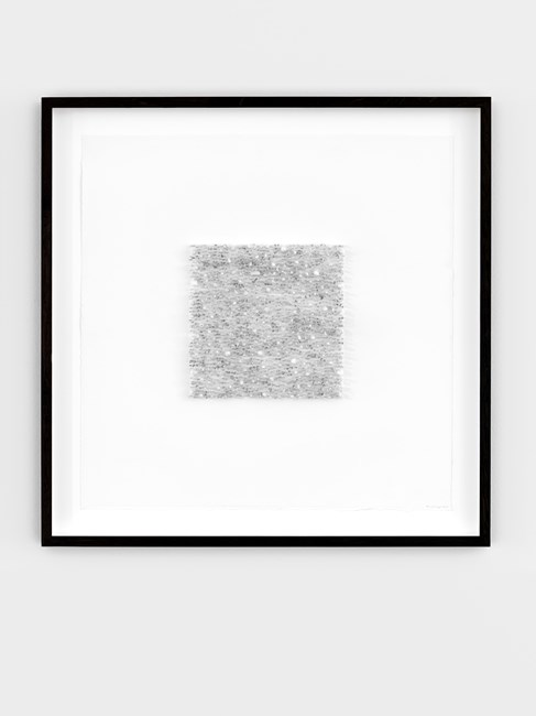 Grey square 03 (Yellow/green) by Lars Christensen contemporary artwork