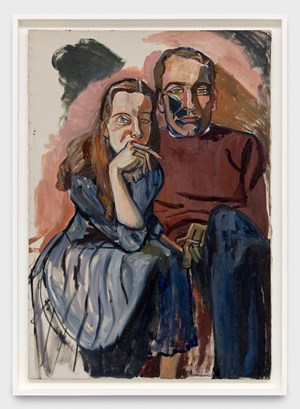 Poet Mark McCloskey and his Girl by Alice Neel contemporary artwork