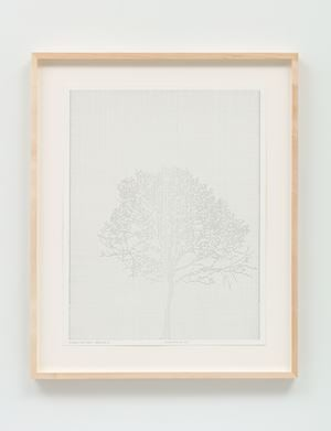 Numbers and Trees: Drawing 37 by Charles Gaines contemporary artwork