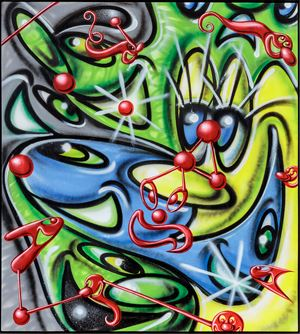 microlentz by Kenny Scharf contemporary artwork