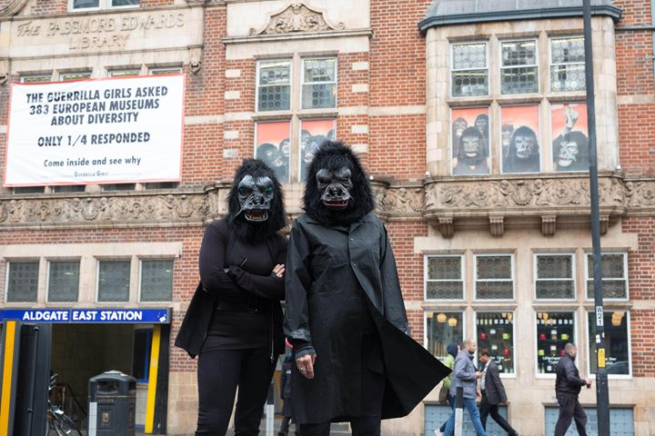 Whitechapel Gallery, Guerrilla Girls, Is it even worse in Europe? (2016). Photo: David Parry/PA Wire.