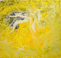 Untitled Yellow by Loreta Sáez Franco contemporary artwork painting