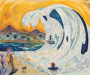 Surf Dad not Soccermom by Pierre Knop contemporary artwork
