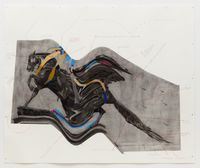 Yesterday a Man was Thrown from a Horse by Cosmo Whyte contemporary artwork works on paper