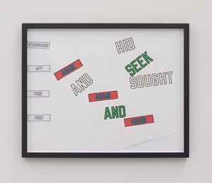 2019 by Lawrence Weiner contemporary artwork
