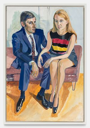 David McKee and his first wife Jane by Alice Neel contemporary artwork