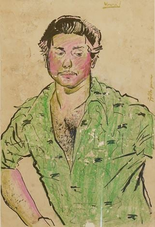 V.N. Jyothi Basu, Untitled. Crayon and watercolour on paper. 56 x 38 cm.Courtesy Galerie Mirchandani + Steinruecke, Mumbai.