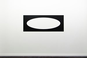 Reflective Editor: One Horizontal Elliptical Hole, Parallel Pattern by Douglas Allsop contemporary artwork