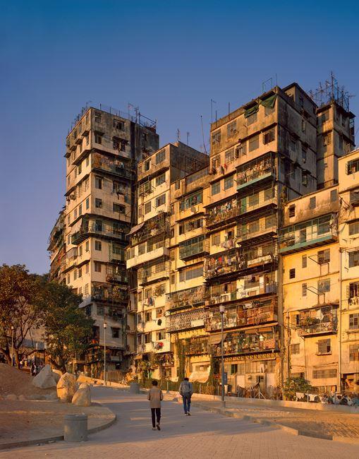 'West Elevation', City of Darkness, Hong Kong by Ian Lambot contemporary artwork