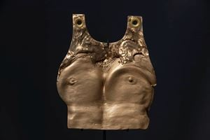 Beating your Breast, Plate by Julie Rrap contemporary artwork