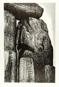 Stonehenge XI by Henry Moore contemporary artwork print