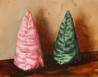 Pink Cone, Green Cone by Michaël Borremans contemporary artwork painting