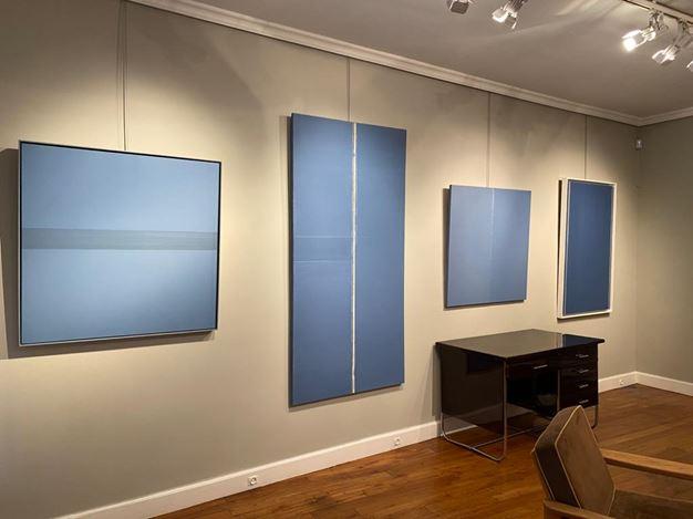 Exhibition view:Geneviève Asse,Geneviève Asse : from 1950 to 2010,Galerie Laurentin, Paris (13 November 2020–13 February 2021). Courtesy Galerie Laurentin, Paris - Bruxelles.