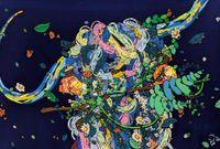 Shepherd's purse III by Icco YOSHIMURA contemporary artwork painting