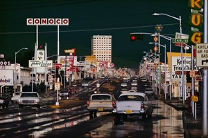 Route 66 in Albequerque New Mexico by Ernst Hass contemporary artwork