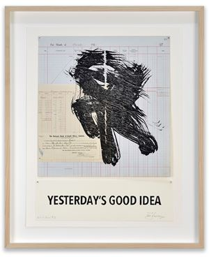 Yesterday's Good Idea by William Kentridge contemporary artwork