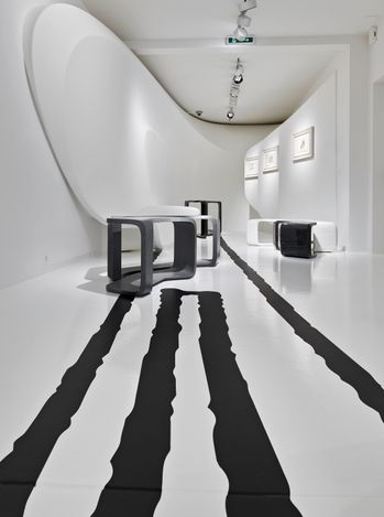 Exhibition view: Zaha Hadid, Abstracting the Landscape, Galerie Gmurzynska,Paradeplatz, Zurich (26 April–31 July 2021). Courtesy Galerie Gmurzynska.