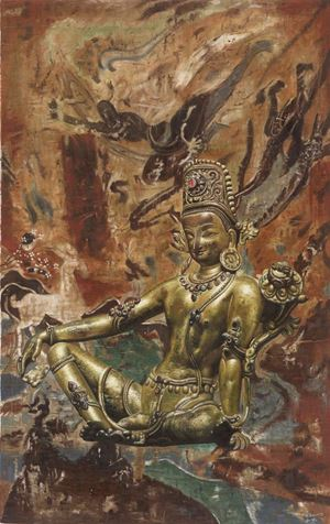 New Dharma in the Old World by Mi Qiaoming contemporary artwork