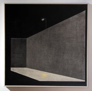Moon / streetlights by Cheng Hung contemporary artwork