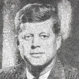 Hystorical Portraits -  vol. 2 John F. Kennedy by Keita Sagaki contemporary artwork