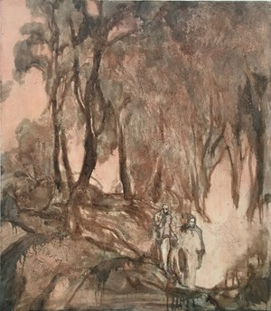 Excursion in Autumn 踏秋 by Wang Yabin contemporary artwork