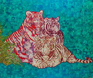 Three Tigers 三只老虎 by Xue Song contemporary artwork