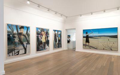 Marc Desgrandchamps, Soudain hier, Exhibition view.Courtesy of Galerie Lelong, Paris.