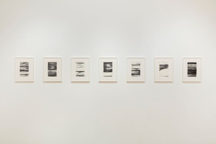 Exhibition view:Hedda Sterne, Victoria Miro, Mayfair, London (29 January–14 March 2020). © TheHeddaSterne Foundation Inc, ARS, NY and DACS, London 2019. Courtesy Van Doren Waxter and Victoria Miro.