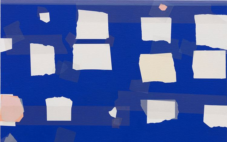 Kees Goudzwaard, Arranged Fragments (2019) (detail). 75 x 60 cm. Oil on canvas. Courtesy Zeno X Gallery.