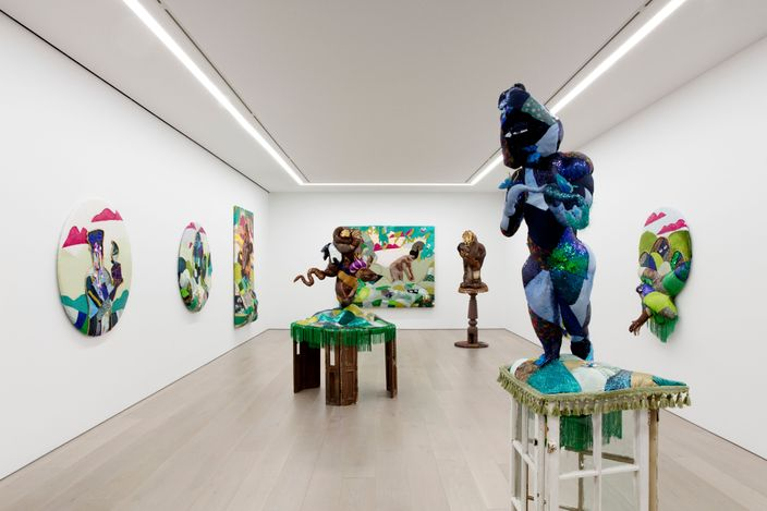 Exhibition view: Trevon Latin, Trinket Eater, Perrotin, New York (17 June–13 August 2021). Courtesy the artist and Perrotin.Photo: Guillaume Ziccarelli.